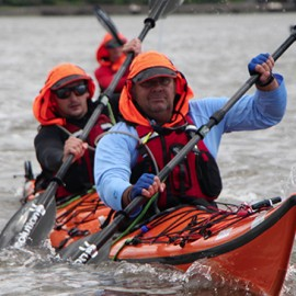 Sea kayakers on Brave The Crossing