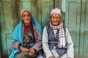 Nepalese men at rest.