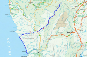 Takayna/Tarkine Track proposal map