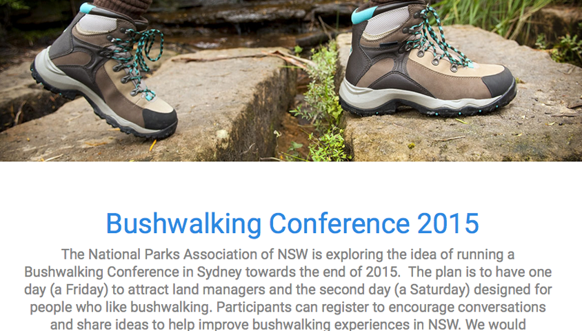 Bushwalking conference