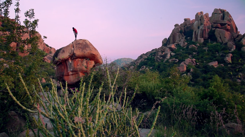 Bouldering in Hampi, India