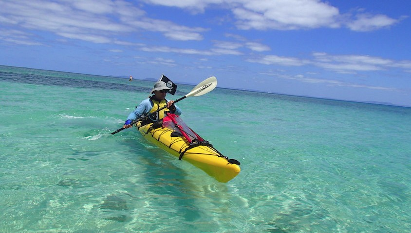 Kayaking near Two Isles