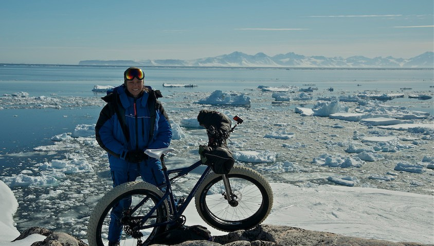 Kate Leeming in Greenland.