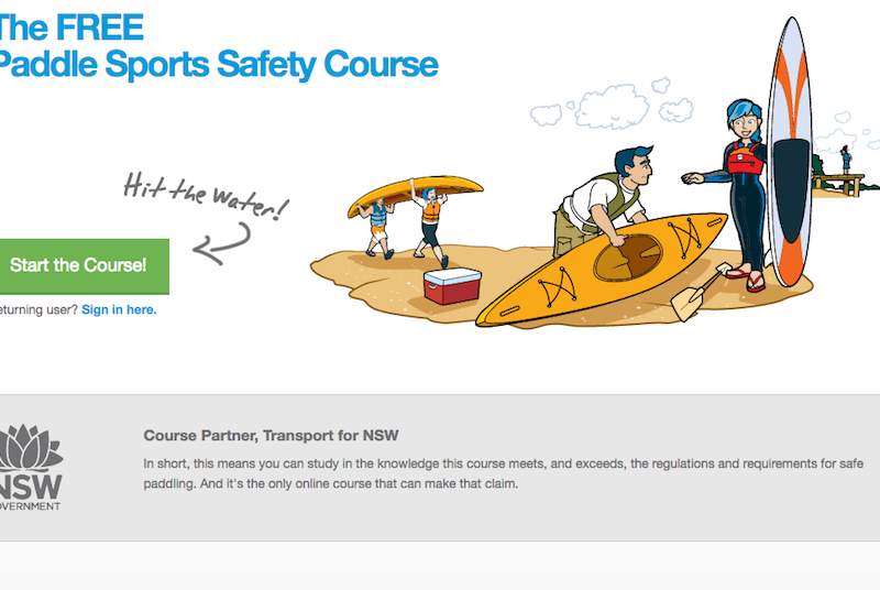 Free paddle safety course