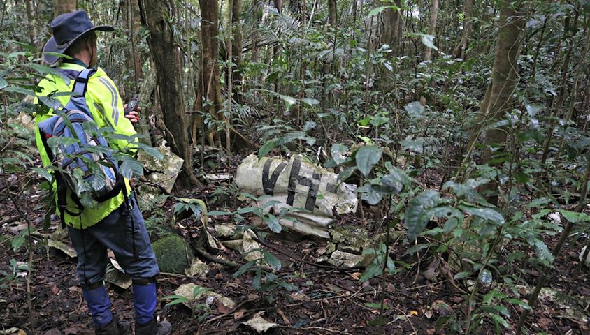 Mt Molloy crash site found