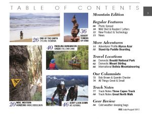 Wild 160 Table of Contents